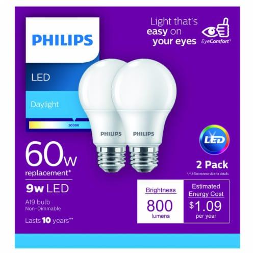 Philips 9-Watt (60-Watt) A19 LED Light Bulbs Perspective: front