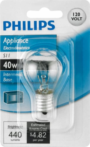 Philips 40-Watt Intermediate Base S11 Appliance Light Bulb Perspective: front