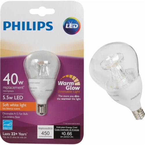 Philips 5.5w A15 Wg Med Led Bulb 463967 Perspective: front