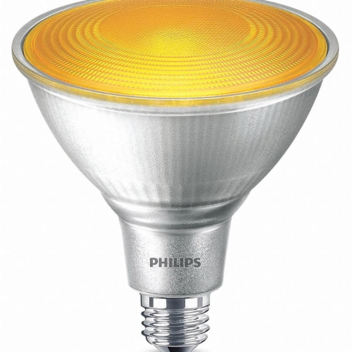 Philips 13.5-Watt PAR38 LED Party Floodlight Bulb - Yellow Perspective: front