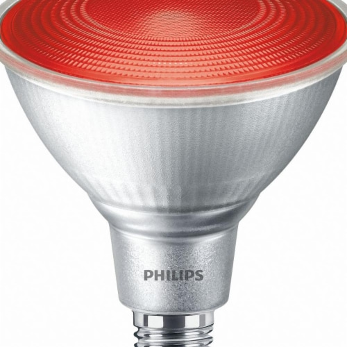 Philips 13.5-Watt PAR38 LED Floodlight Bulb - Red Perspective: front