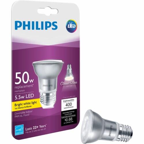 Philips 50W Equivalent Bright White PAR16 Medium LED Floodlight Light Bulb Perspective: front