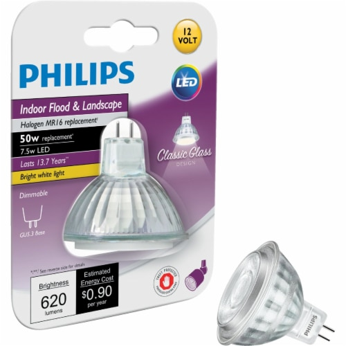 Philips 50w Dim Glass Mr16 Bulb 470278 Perspective: front