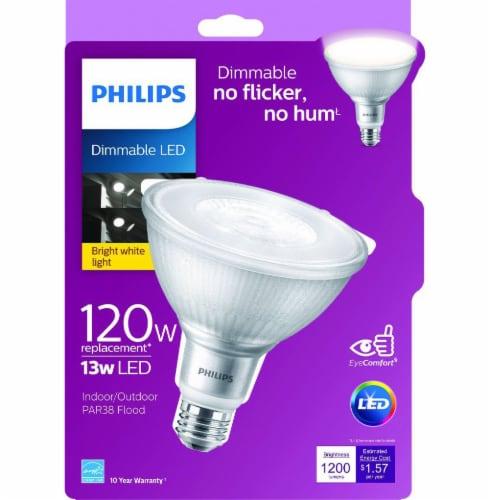 Philips 13-Watt (120-Watt) PAR38 LED Floodlight Bulb Perspective: front