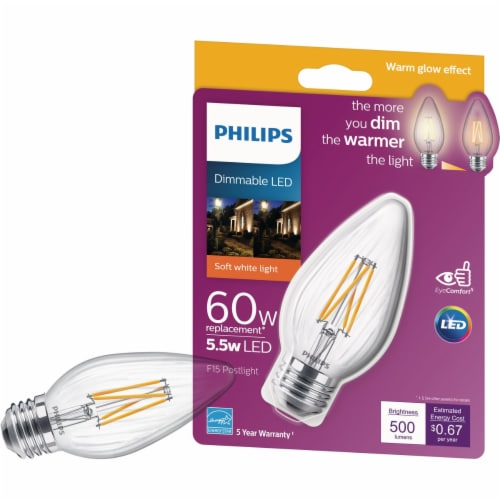 Philips 60w F15 Wg Led Post Bulb 547959 Perspective: front