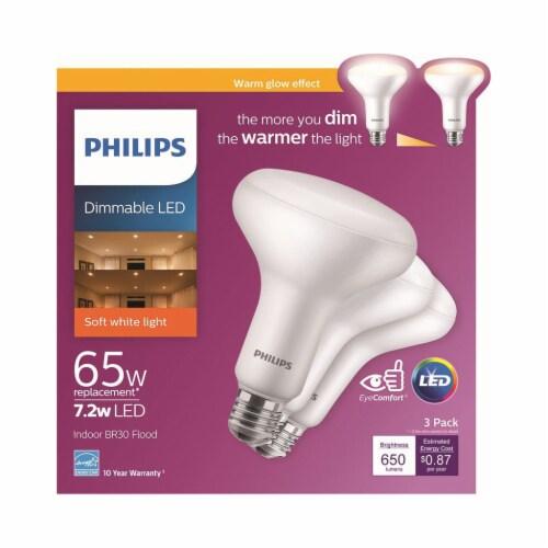 Philips 7.2-Watt (65-Watt) BR30 Indoor LED Floodlight Bulbs Perspective: front