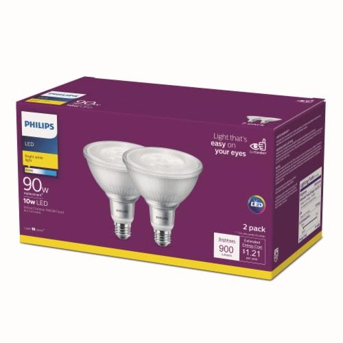 Philips 10-Watt (90-Watt) PAR38 LED Floodlight Bulbs Perspective: front