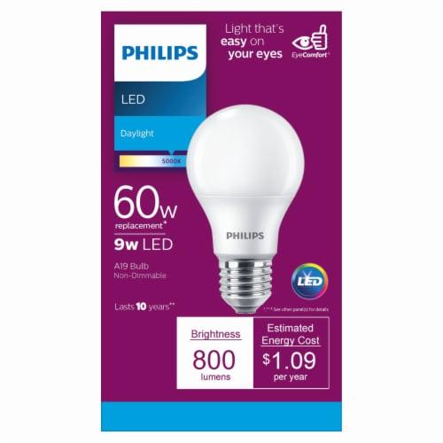 Philips 9-Watt (60-Watt) A19 LED Light Bulb Perspective: front