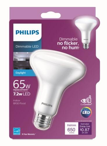 Philips 7.2-Watt (65-Watt) BR30 Indoor LED Floodlight Bulb Perspective: front