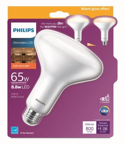Philips 8.8-Watt (65-Watt) BR40 Indoor LED Floodlight Bulb Perspective: front