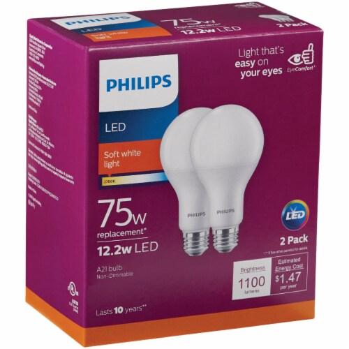 Philips 12.2-Watt 75-Watt A21 LED Light Bulbs Perspective: front