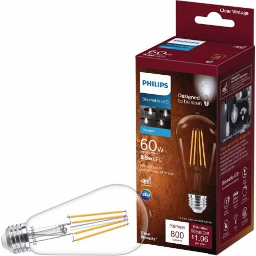 Philips 8.8-Watt (60-Watt) ST19 LED Light Bulb Perspective: front