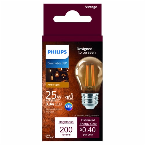 Philips 3.3-Watt (25-Watt) A15 LED Light Bulb Perspective: front