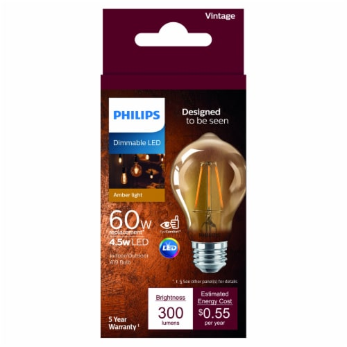 Philips 4.5-Watt (60-Watt) A19 LED Light Bulb Perspective: front