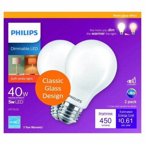 Philips 5-Watt (40-Watt) A19 LED Light Bulbs Perspective: front