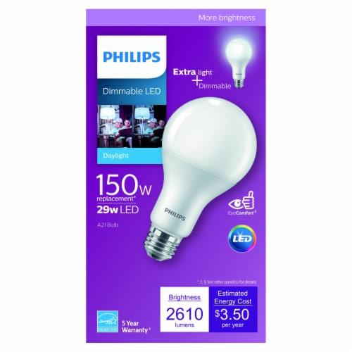 Philips 29-Watt (150-Watt) A21 Dimmable LED Light Bulb Perspective: front