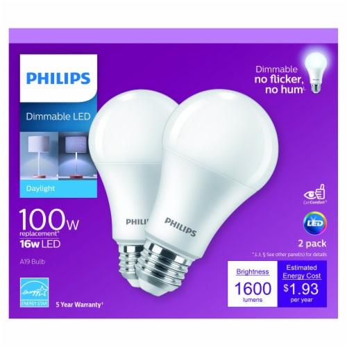 Philips 16-Watt(100-Watt) A19 LED Light Bulbs Perspective: front