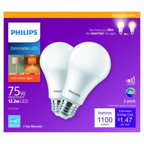 Philips 12.2-Watt (75-Watt) A19 Dimmable LED Light Bulb Perspective: front