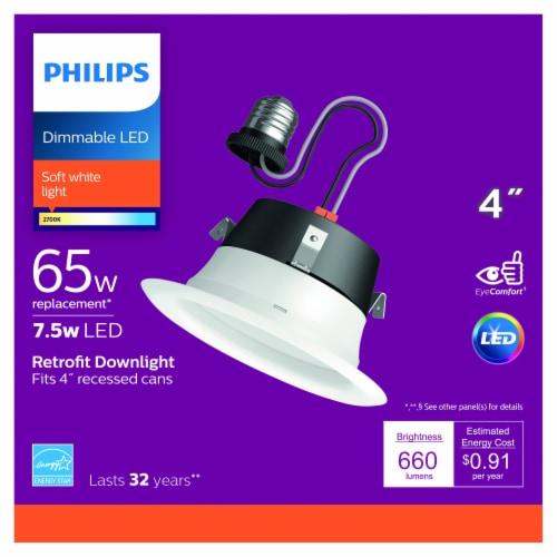 Philips 7.5-Watt (65-Watt) Retrofit Downlight LED Light Bulb Perspective: front
