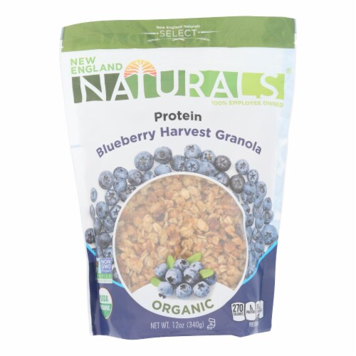 New England Naturals Granola High Protein - Blueberry Harvest - Case of 6 - 12 oz. Perspective: front