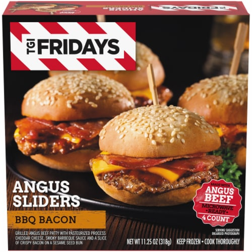 TGI Fridays BBQ Bacon Angus Sliders Perspective: front