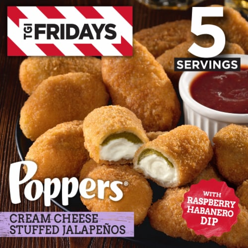 TGI Fridays Poppers Cream Cheese Stuffed Jalapenos Perspective: front