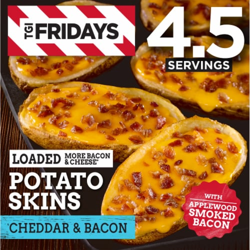 TGIF Loaded Bacon & Cheddar Potato Skins Perspective: front