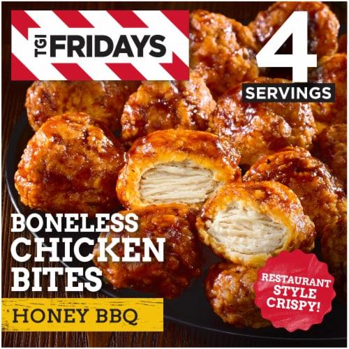 TGI Fridays Honey BBQ Boneless Chicken Bites Perspective: front