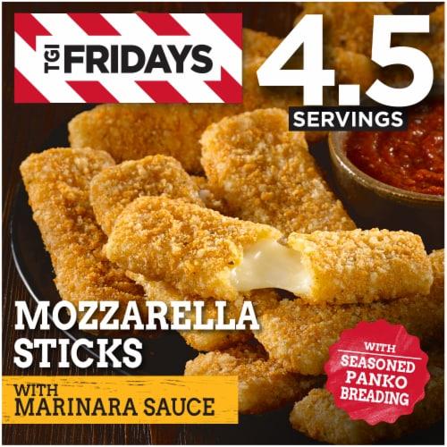 TGI Fridays Mozzarella Sticks with Marinara Sauce Perspective: front