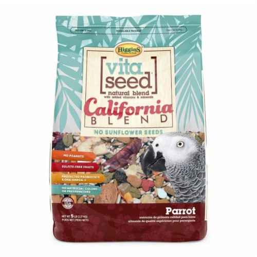 Higgins Pet Food HS21003 Vita Seed California For Parrot, 5 lbs. Perspective: front