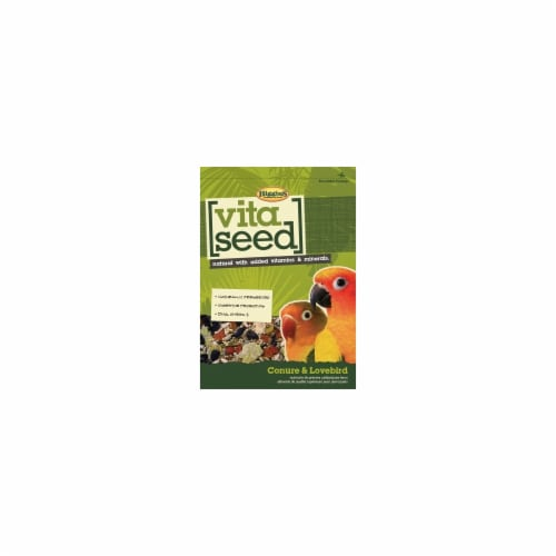 Higgins Pet Food HS21011 Vita Seed For Conure & Lovebird - 25 lbs. Perspective: front