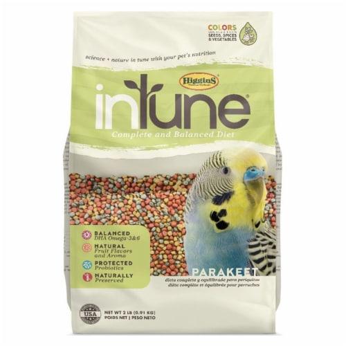 Higgins Premium Pet Foods HS30245 2 lbs Intune Complete & Balanced Diet for Parakeet Perspective: front