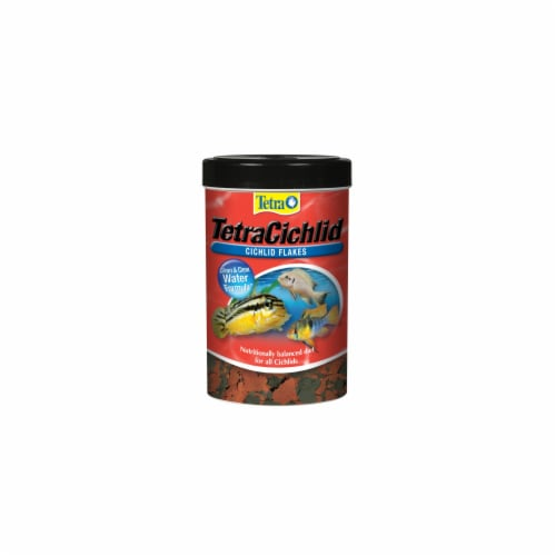 Tetra Cichlid Flakes Fish Food Perspective: front