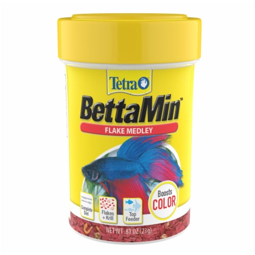 Tetra BettaMin Flake Medley Fish Food Perspective: front