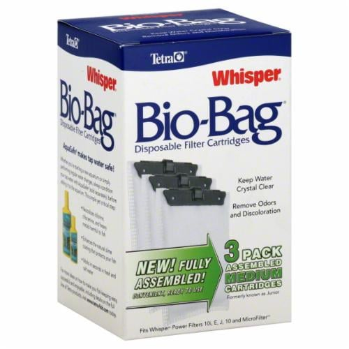 Tetra Whisper Bio-Bag Medium Disposable Filters Perspective: front