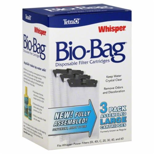 Tetra Whisper Bio-Bag Large Disposable Cartridge Perspective: front