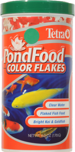 Tetra Color Flakes Pond Food Perspective: front