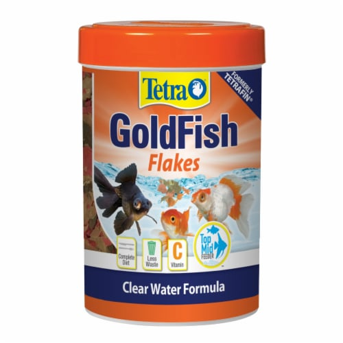 Tetra Goldfish Flakes Fish Food Perspective: front