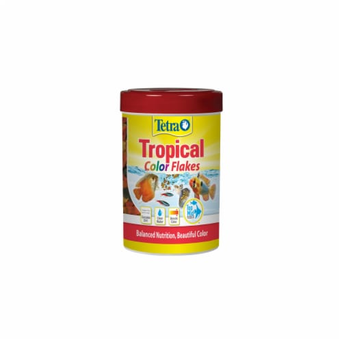 Tetra Color Tropical Fish Flakes Perspective: front