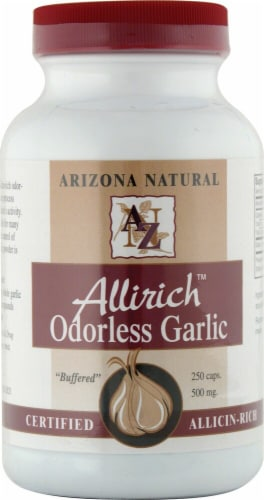 Arizona Natural Products Allirich Odorless Garlic Capsules 500mg Perspective: front
