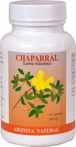 Arizona Natural Products Chaparral Capsules 500mg Perspective: front
