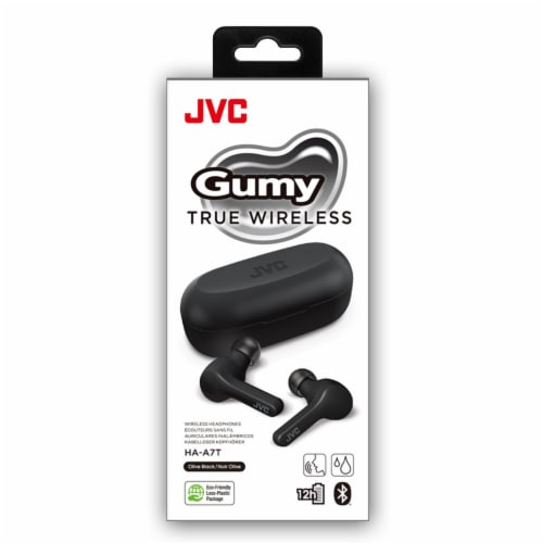 JVC Gumy True Wireless Headphones - Black Perspective: front