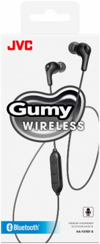 JVC Gumy Wireless Inner-Ear Headphones with Mic/Remote - Black Perspective: front