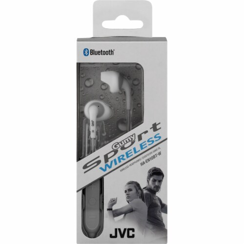 JVC Gumy Sport Wireless Headphones - White Perspective: front