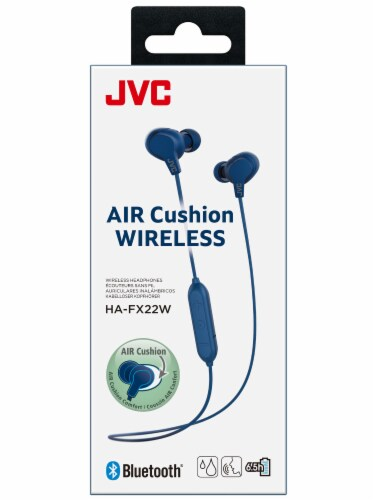 JVC Air Cushion Wireless Headphones - Blue Perspective: front