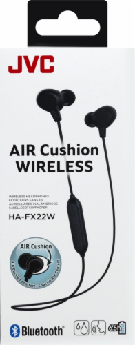 JVC Air Cushion Wireless Headphones - Black Perspective: front