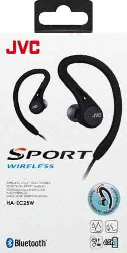 JVC Sports Wireless Earhook Headphones - Black Perspective: front