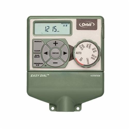 Orbit Easy Dial 4-Station Indoor Hardwired Sprinkler Timer 57594 Perspective: front