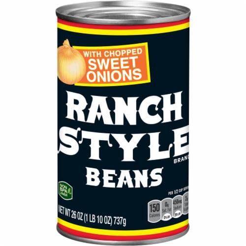 Ranch Style Beans With Chopped Sweet Onions Perspective: front