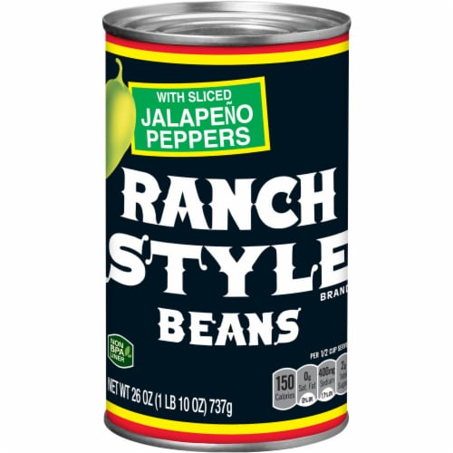 Ranch Style Beans with Sliced Jalapeno Peppers Perspective: front